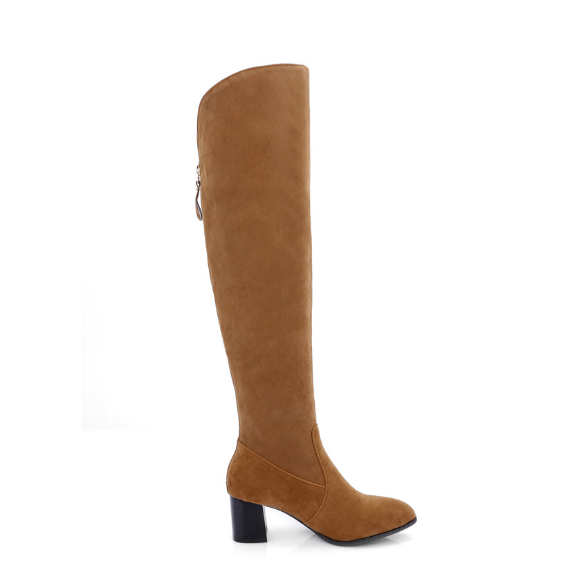 Spring Autumn Women Over the Knee Boots Square High Heel Woman Thigh High Boots Plus Size 33 - 40 41 42 43