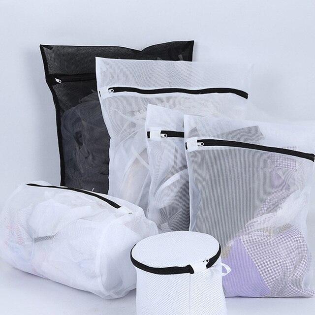 Yolala 6pcs Black Underwear Bras Laundry Bags Baskets Socks Machine Mesh Bag Household Cleaning