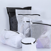 YOLALA 6pcs Black Underwear Lingerie Bras Laundry Bags Baskets Socks Machine Mesh Laundry Bag Household Cleaning Tools Wash Care