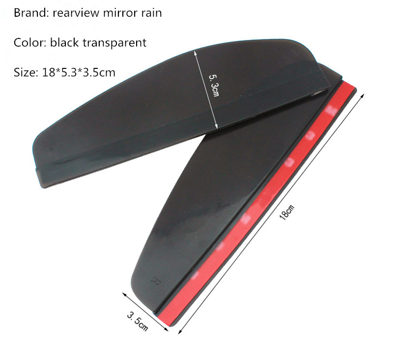 2 Pcs Car Styling Car Rear View Mirror Sticker Rain
