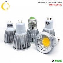 COB led spotlight 9W 12W 15W led lights E27 E14 GU10 GU5.3 220V MR16 12V Cob led bulb Warm White Cold White lampada led lamp