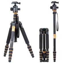 tripods flexible camera tripod  & accessories  Pro Portable Magnesium Aluminium Tripod Monopod Q-666 Tripod  Ball Head цены