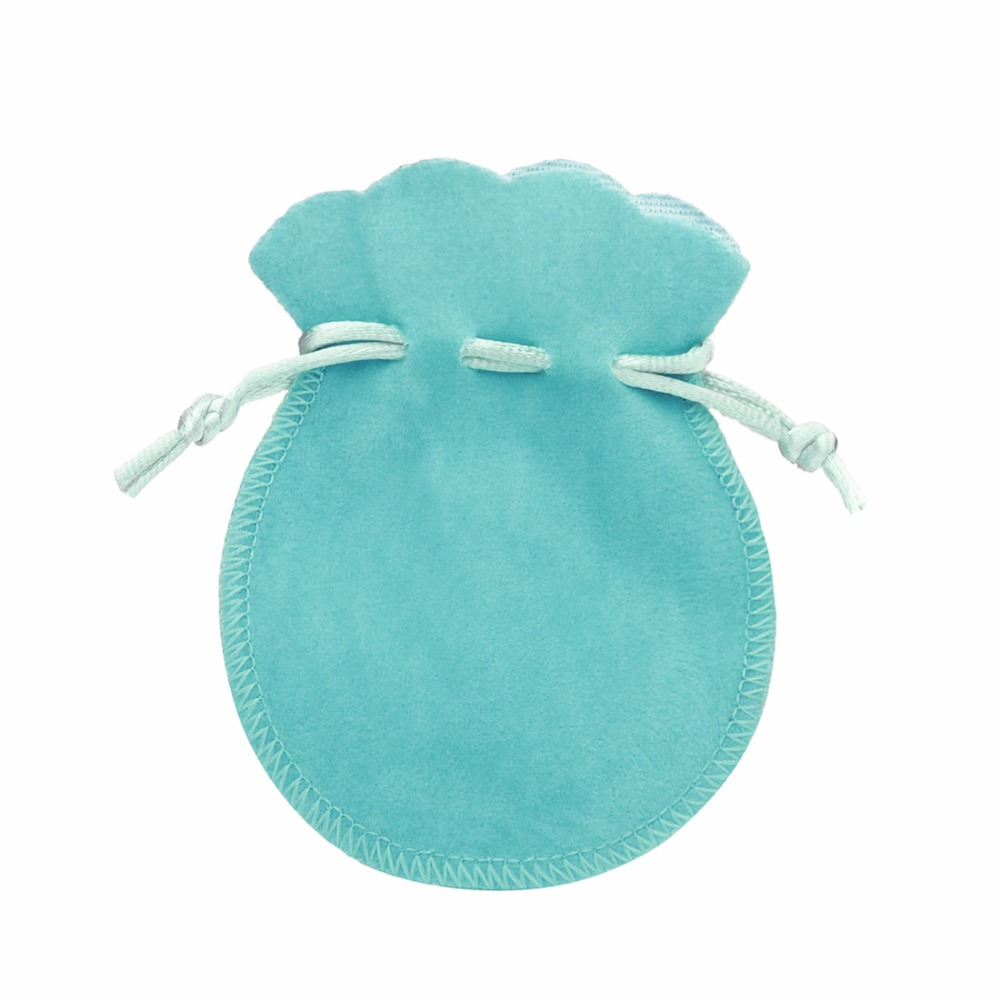 10pcs/lot 7x9cm Velvet Bag Drawstring Pouch Green Calabash Jewelry Bags Packing Jewellery Gift Bag F3991