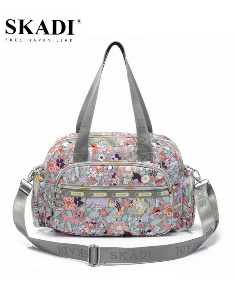 SKADI 2018 New Mermaid Flower WaterProof Shoulder Bag Blosa Mujer Travel High-capacity Crossbody  Women Messenger Bag