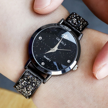 Luxury Gold Fashion Female Ladies Moon Watches Quartz Women Diamond Rhinestone Strap Relojes Mujer Montre Femme