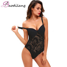 Baodilang Black Lace Bodysuit Ladies Sexy Romper 2017 Summer Bodycon Jumpsuit Sheer Mesh Backless Body Suits For Women