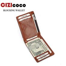 купить Brand Men Wallet Short Skin Wallets Purses Genuine Leather Money Clips Sollid Thin Wallet For Men Purses по цене 715.79 рублей
