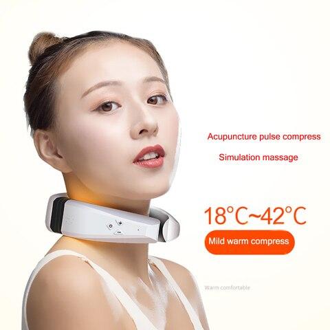 acupuntura eletrica aquecimento massager da garganta terapia