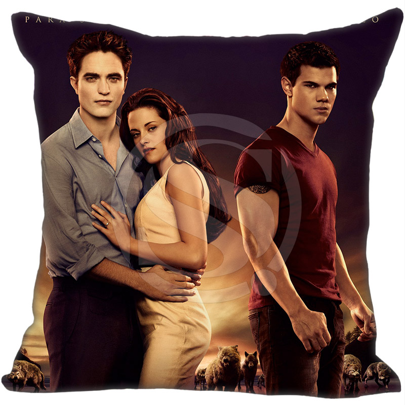 Hot The Twilight Pillowcase Saga Breaking Dawn Robert Pattinson Style throw Custom Home Best Hot Sale 40x40cm image