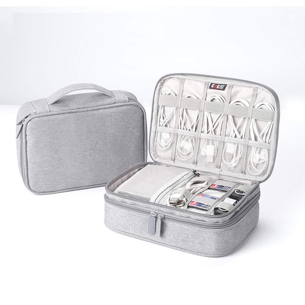 Portable Electronic Accessories Travel case Cable Organizer Bag Gear Carry Bag for Cables USB Flash Drive