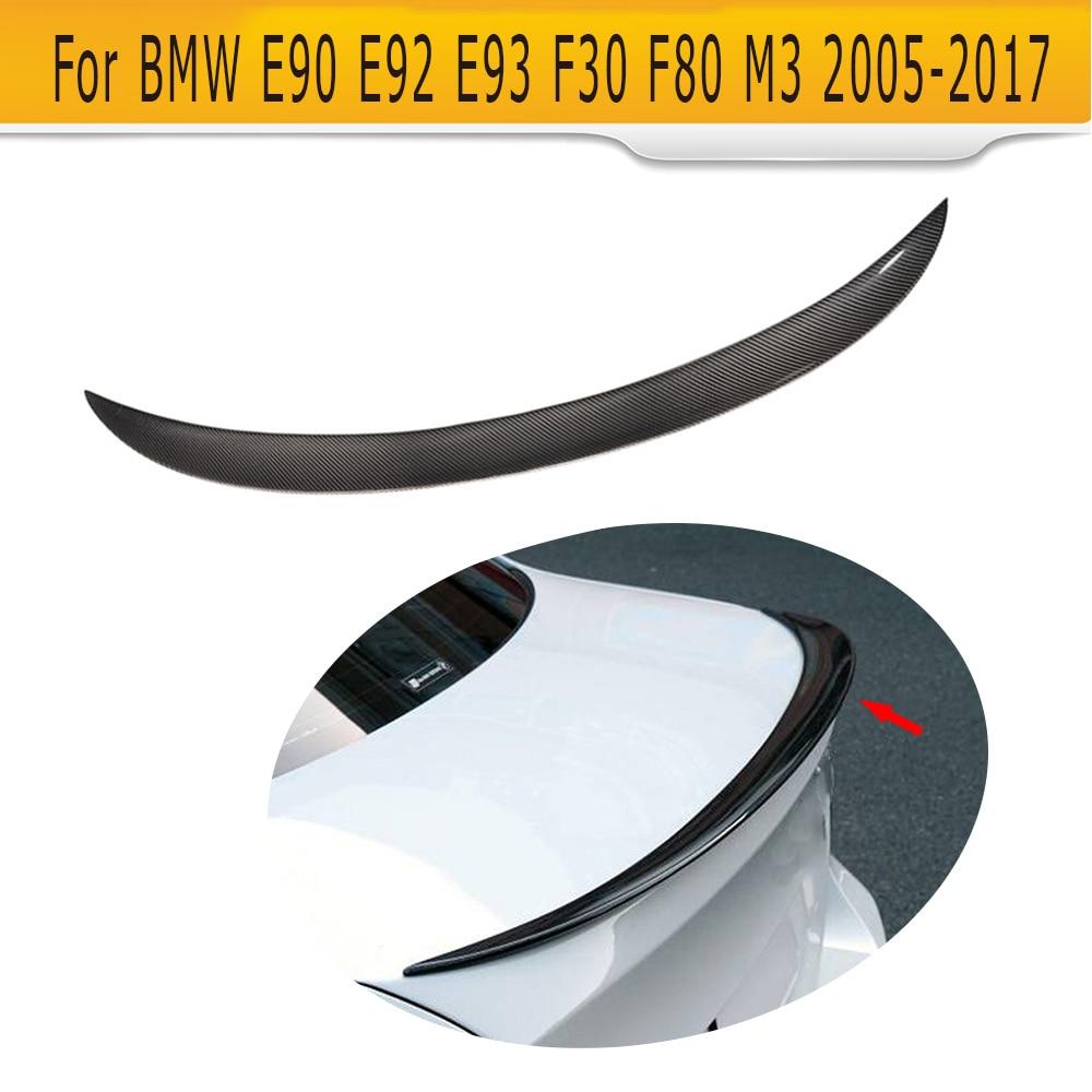 3 Series Carbon fiber Rear trunk wing Spoiler for BMW E90 E92 E93 F30 F80 M3 2005 - 2017 Convertible M Sport 325i 335i P Style yandex w205 amg style carbon fiber rear spoiler for benz w205 c200 c250 c300 c350 4door 2015 2016 2017