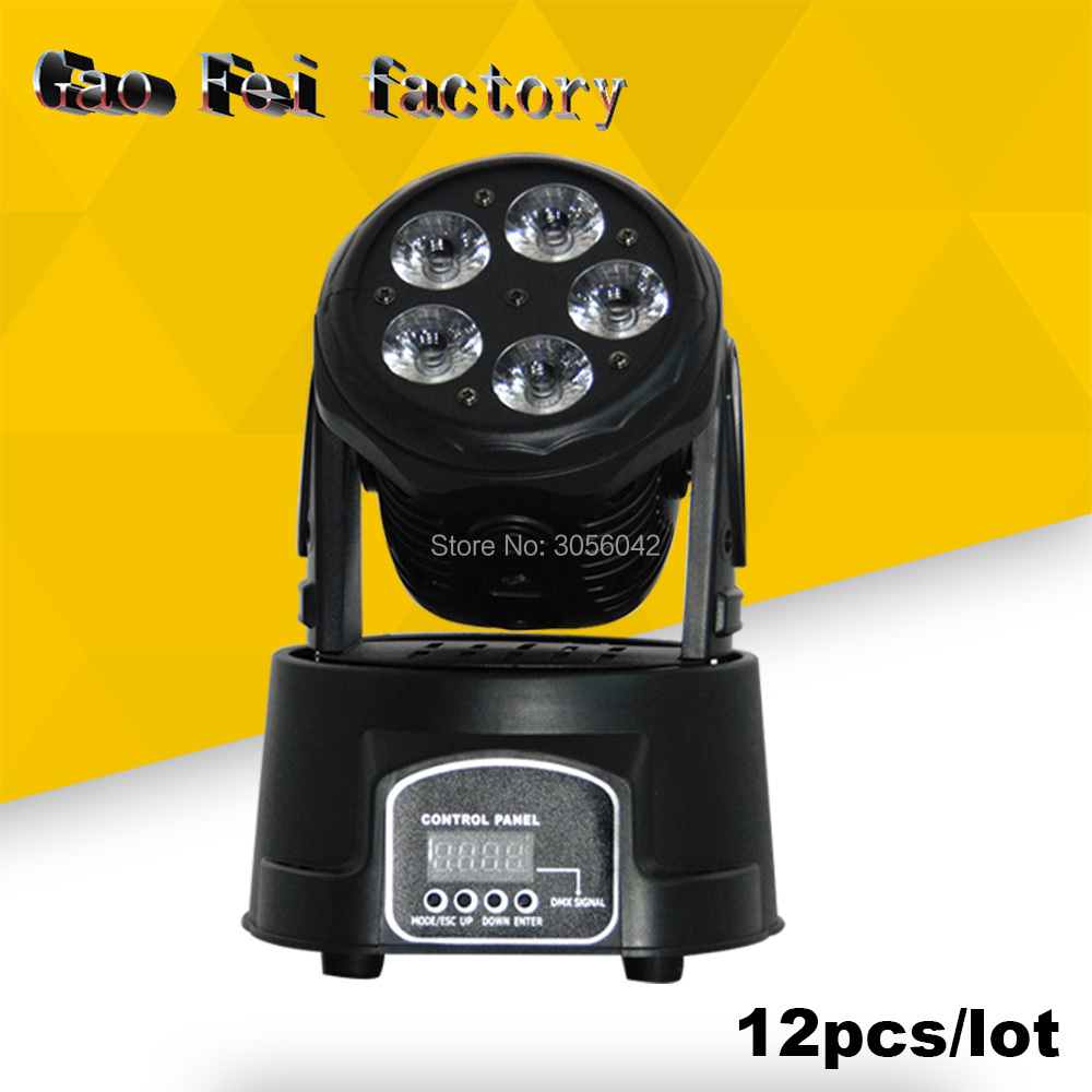 12pcs/lot 5*15W Led RGBWA+UV 6in1 Wash Light DMX512 Moving Head Light Professional DJ /Bar /Party /Show /Stage Light 10pcs lot cheap stage light 36 15w 5 in 1 led zoom moving head wash light rgbwy color mixing dmx512 lighting control