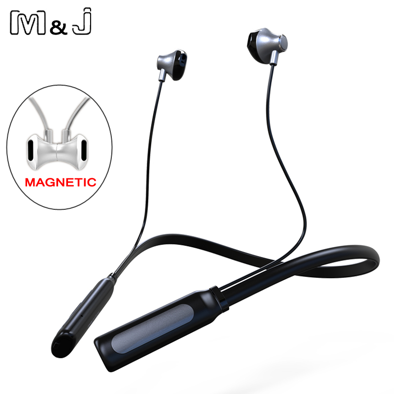 M&J Wireless Bluetooth Earphone Headphones with Microphone Sport Stereo V4.1 Bluetooth Earphone For iPhone 7 xiaomi Android Phon