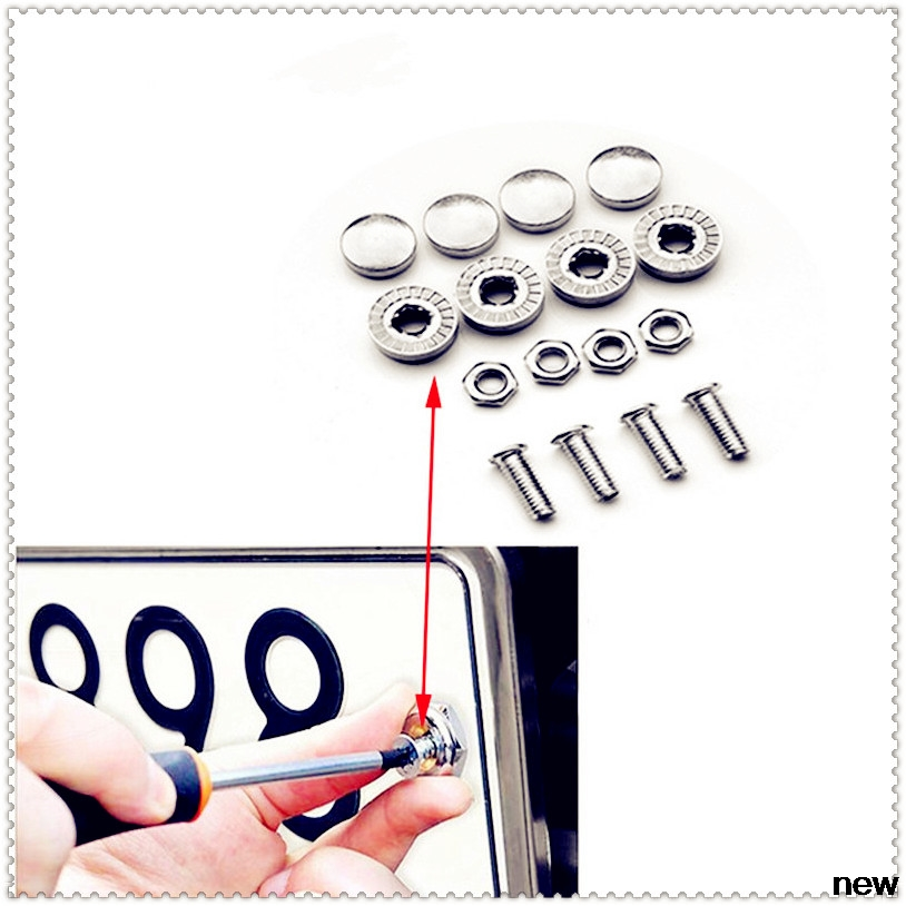 Car number License Plate Bolts Frame Chrome bolt Screws Screw for Skoda Opel DAF RAM Trucks Paccar Ford Otosan Chrysler
