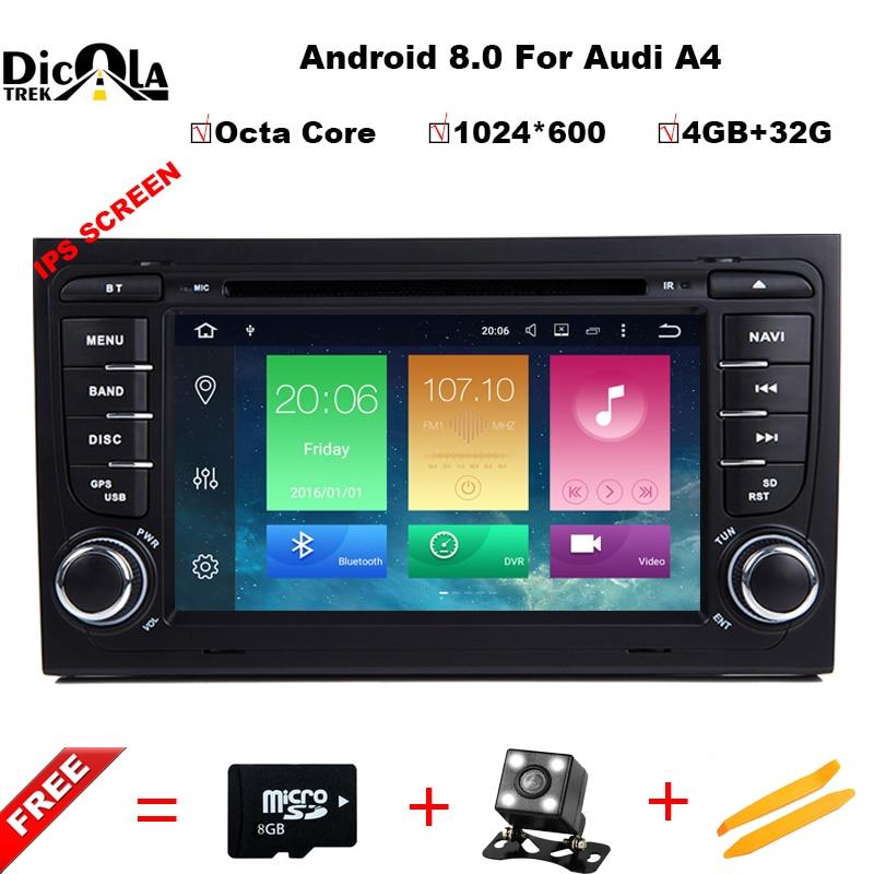 4 + 32 г 2 Din 7 ''Android 8,0 Octa Core радио dvd плеер автомобиля для Audi A4 B6 b7 S4 B7 B6 RS4 2002 2008 RS4 B7 SEAT Exeo 2008 2012