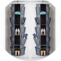 Сумка для хранения одежды Косметическая ювелирные изделия многофункциональный висит гардероб складной Карусель Органайзер для обуви