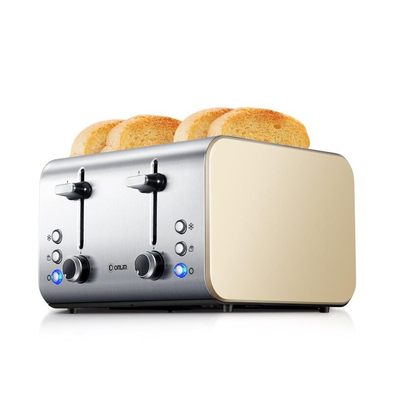 Выпекать тост DL 8590A тостер Завтрак машина Нержавеющаясталь дома Приспособления двойного назначения 4 шт.