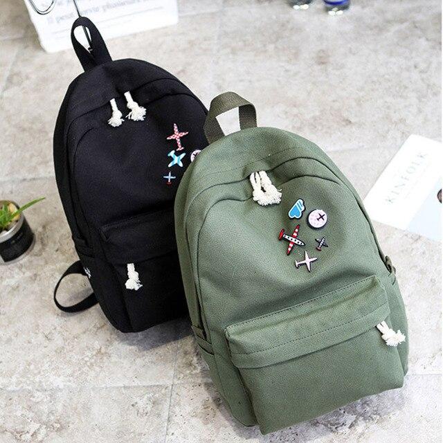 255f67a8cbec Backpack Women 2018 Women Travel Canvas Backpacks Rucksack Student  Teenagers Girls Casual Shoulder Bag Travel School Bag Mochila