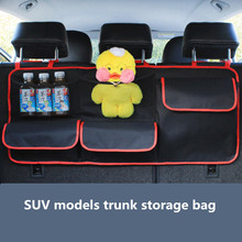 Car Trunk Organizer Oxford Auto Backseat Hanging Storage Bags Food Bottle Multi-Use Tools Organiser Mesh Bag For SUV Jeep