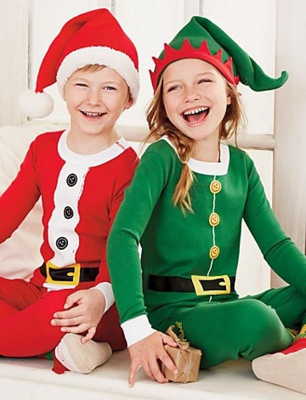xams santa family matching pajamas clothing set adult kids women christmas santa claus nightwear pyjamas pjs photography clothes in matching family outfits - Elf Christmas Pajamas