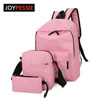 2016 New Arrival Women Canvas Preppy Backpack School Backpacks For Teenagers Pure Student Backpack Set Shoulder