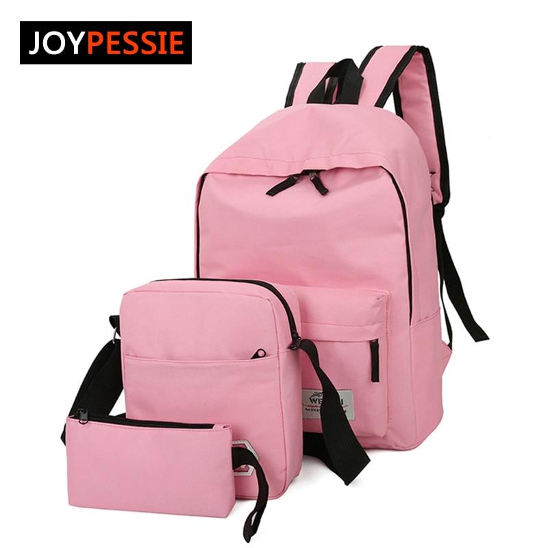 2016 Women nylon Preppy 3 pcs set Backpack girl school backpack For Teenagers Student Backpack Set Shoulder Bag Women bag 3 pcs set school bags for teenagers girl boy backpack women shoulder travel bags rucksack knapsack set de 3 mochilas escolares