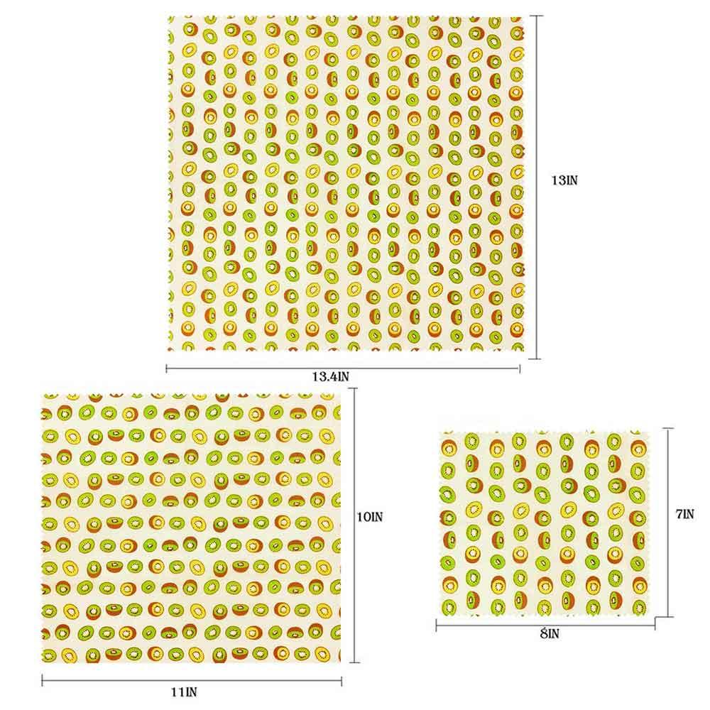Визуальный сенсорный ладонь органический пчелиный воск ткань сэндвич пакет свежего хранения мешок крышка пищевая пчелиный воск обертывание стрейч уплотнение - Цвет: Kiwi
