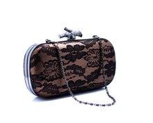 Frau Luxus Braut Handtasche Frauen Rot/Schwarz/Blau Spitze Abendtaschen Mit Kette Delicate Handtasche SMYCWL-E0027