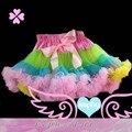 Hot sale Pettiskirt Baby Girl fluffy Chiffon pettiskirts Girl's Cute dancing turquoise  tutu Skirts mix color freeshipping
