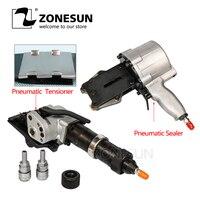 Herramientas de embalaje de banda de acero neumática ZONESUN KZS-40/32 sellador y tensor de cinta de acero neumática