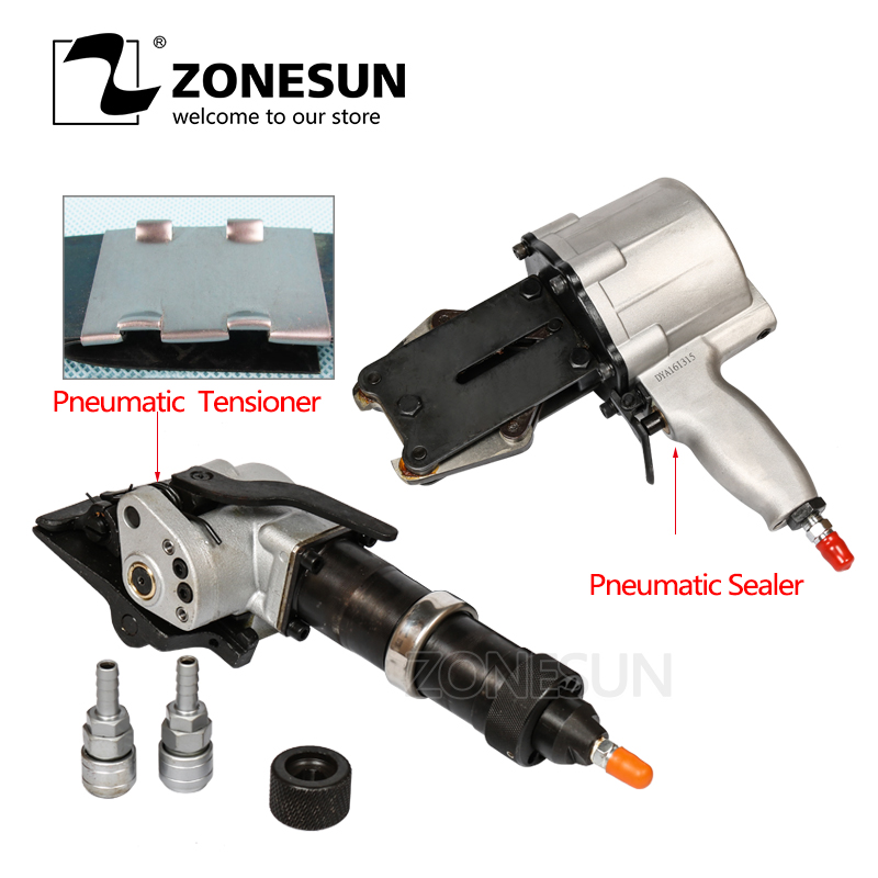 ZONESUN KZS-40/32 Pneumatic Steel Band Packing Tools Pneumatic Steel Strip Sealer And TensionerZONESUN KZS-40/32 Pneumatic Steel Band Packing Tools Pneumatic Steel Strip Sealer And Tensioner