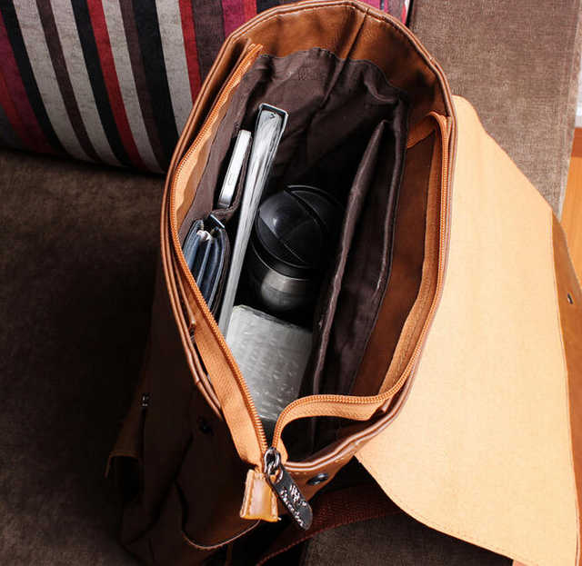 74fd44bb08a New men backpacks vintage leather backpack big size travel bag student  casual laptop backpack school bags