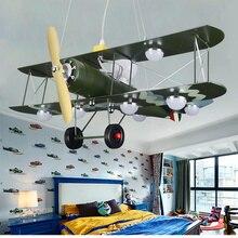 Modern airplane pendant lights fixture creative LED art deco hanging lamp for kid room boy children bedroom cartoon indoor lamps