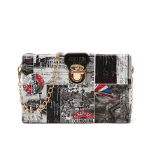 2019 Summer New Womens Bag Europe and The United States Trend Wild Shoulder Chain Box Messenger