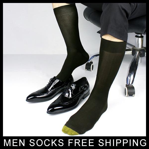 Moške bombažne svečane obleke nogavice Golden Toe zimske moške - Spodnje perilo