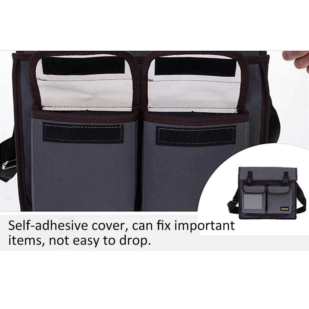 Multifuncional Bolsa de Ombro Único de Hardware Kit De Ferramentas Eletricista Maleta de Ferramentas À Prova D' Água-resistente ao Desgaste Oxford saco de Pano cinto