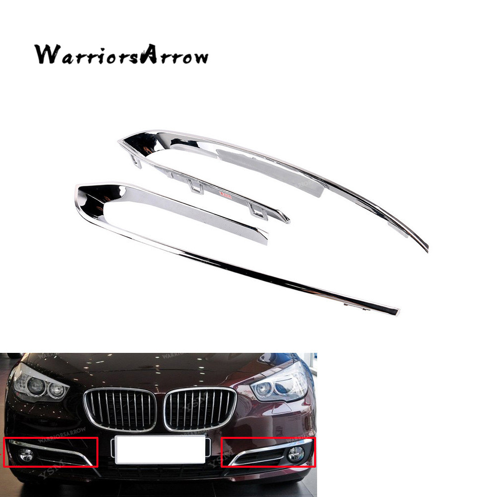 LH+RH Chrome Front <font><b>Bumper</b></font> Fog Light Grille Trim For <font><b>BMW</b></font> <font><b>F10</b></font> F11 520i 525d 528i 535i 535iX 550i Hybrid 5 51117331769 51117331770 image