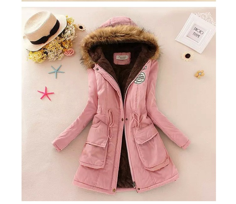 New Fashion Women Jacket Winter Warm Solid Hooded Coat Female Casual Slim Fur Collar Women Jacket And Coats Abrigos Mujer JT142 (9)