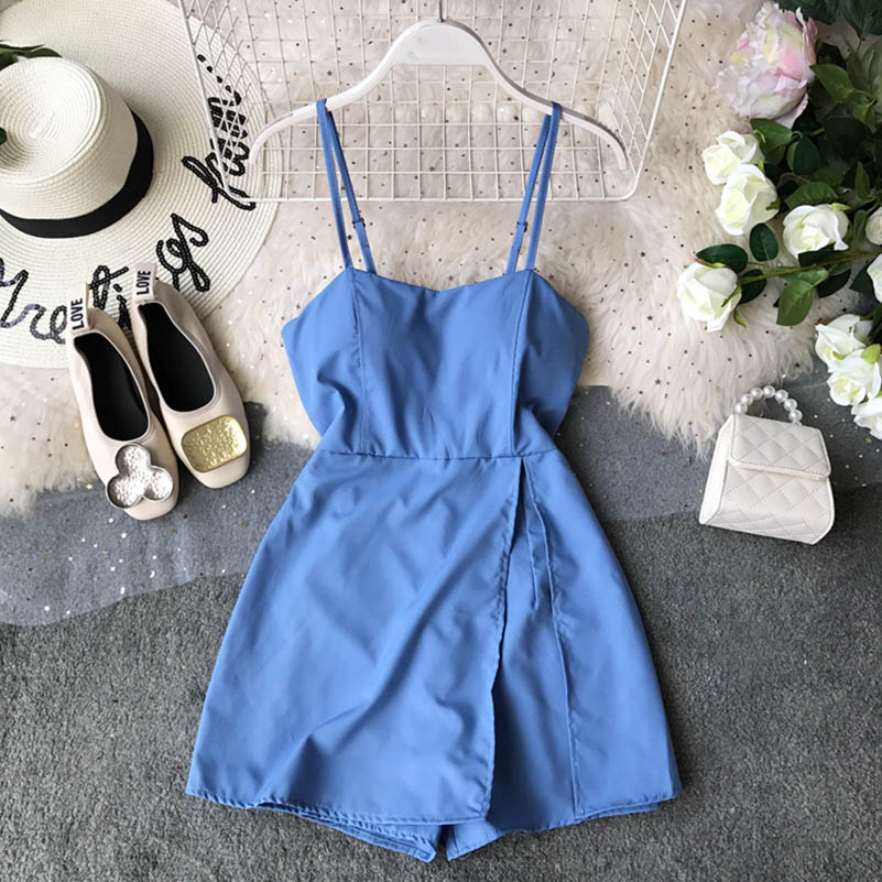 Nicemix 2019 Summer Dress Women Shorts Chiffon Dress Sleeveless Boho Style Short Beach Dress Sundress Casual Shift Dresses Vesti