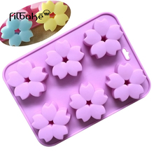 FILBAKE Fondant Silicone Cake Molds Cherry blossoms Shaped Baking Bakeware Cookie Mould Kitchen Pastry Decorating Tools