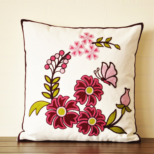 1pcs Home Decor Embroidery Series Handmade Embroidered Flower