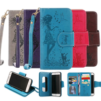 For Samsung Galaxy S7 Case Coque Make Up Mirror Wallet 9 Style Bird Leather With Multi