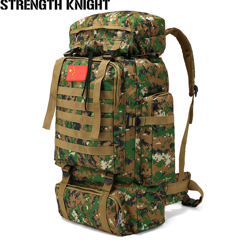 70L Large Capacity Men's Military Tactics Backpack Multifunction Waterproof Mountaineering Backpacks Wear-resisting Travel Bag 40l molle tactics backpacks military travel waterproof pack large capacity man backpack bag camouflage army backpack j57