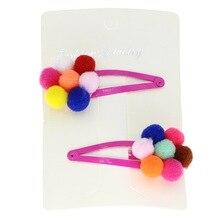 isnice 2pcs mini cute pumpkin hair clips for girls hand made kids Fashion Korean Barrettes