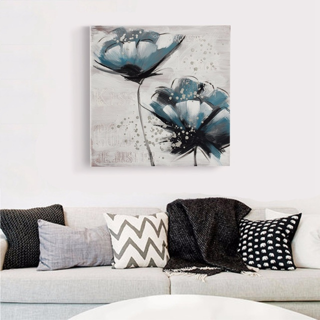 diy modern flowers abstract wall decor home living room bedroom art