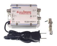 2 Way 1 In 2 Out CATV VCRเครื่องขยายสัญญาณเสาอากาศBooster Splitter 20DB 45Mhzถึง860MHz 220V EU Plug