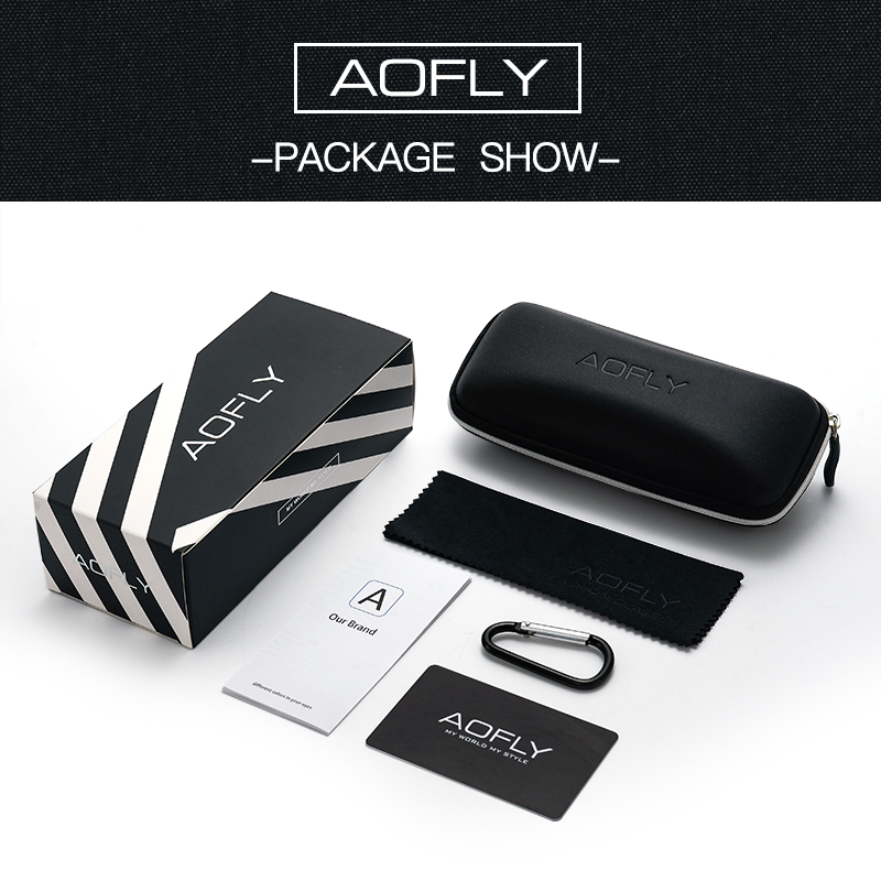 Image 5 - AOFLY Brand Design Classic Polarized Sunglasses For Men Driving Shades Alloy Retro Frame Square Sunglasses Male zonnebril heren-in Men's Sunglasses from Apparel Accessories on AliExpress