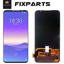 Black White MEIZU 16S LCD Display No Dead Pixel 6.2 Super AMOLED LCD Screen Digitizer Touch screen MEIZU 16S LCD Screen Frame цена