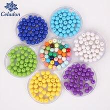 100 Teile/los Multi Farben 8mm Shiny Kunststoff Acryl Lose Distanzscheibe DIY Runde Ball Perlen, für DIY Schmuck Armbänder & Handwerk Machen