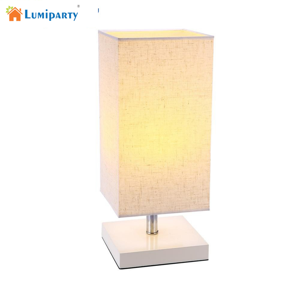 Lumiparty Modern brief Table Lamp night light Lampshade Living Room Bedroom table lamps fixtures (Bulb is not included) US plug decorative table lamp vintage wood plastic rustic style brief modern lampshade living room bedroom 110 220v desk light 1936